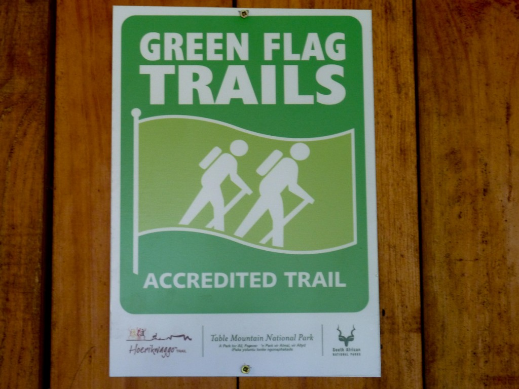 As trilhas certificadas na África do Sul ganham um certicado. Sinalização é um dos quesitos analisados.